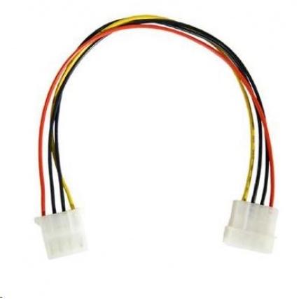 """PREMIUMCORD Prodlužovací kabel napájecí interní 5,25"""" molex 37cm"""