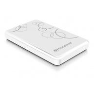 """TRANSCEND externí HDD 2,5"""" USB 3.0 StoreJet 25A3, 1TB, White (nárazuvzdorný, 256-bit AES)"""