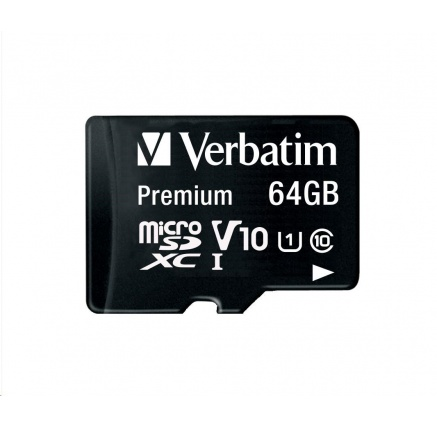 VERBATIM Premium U1 Micro SecureDigital SDXC 64GB+ adaptér