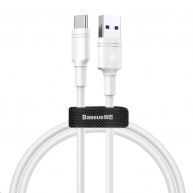 Baseus Double-Ring Quick Charge Cable USB for Type-C 5A 1M White