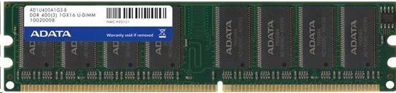DIMM DDR 1GB 400MHz CL3 ADATA, retail