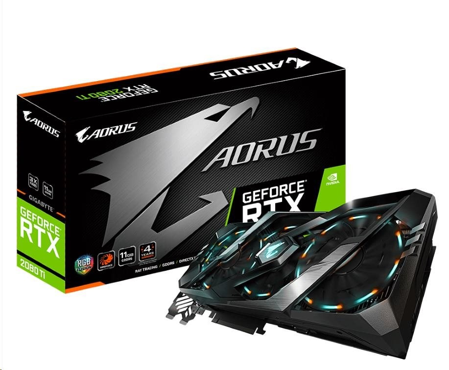 GIGABYTE VGA NVIDIA GeForce® RTX 2080 Ti AORUS 11G, 11GB, GDDR6