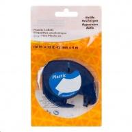 PRINTLINE kompatibilní páska s DYMO 59426, 12mm x 4m, černý tisk / modrý podklad, LetraTag, plastová