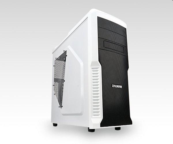 case Zalman miditower Z3 Plus, mATX/ATX, průhledný bok, bez zdroje, USB3.0, černo-bílá