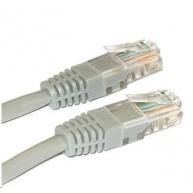 Patch kabel Cat5E, UTP - 0,5m, šedý