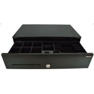 Virtuos pokladní zásuvka SK-500C, s kabelem 24V, pořadač 6/8, 9-24V, černá