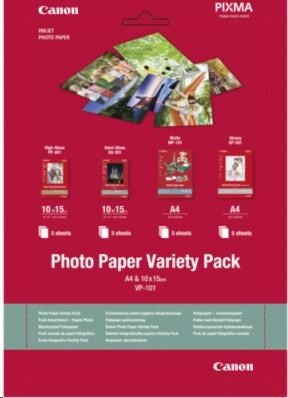 Canon PAPÍR Photo Paper Variety Pack 10x15cm VP-101
