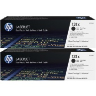 HP 131X Black 2-pack LJ Toner Cart, CF210XD
