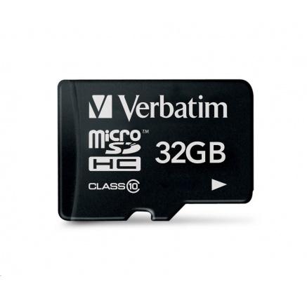 VERBATIM MicroSDHC karta 32GB Premium, U1