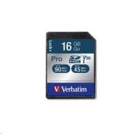 VERBATIM SDHC karta 16GB Pro, U3, V30