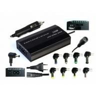 EUROCASE univerzální napájecí adaptér 100W, AC 110-240V/CAR DC 12V, DC 12- 20, 9 koncovek