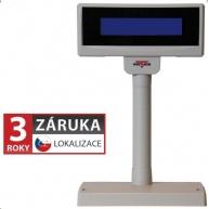 Virtuos zákaznický display FL-2024MB, 2 x 20 znaků 9mm, RS232, včetně napájení +12V