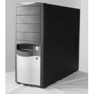 EUROCASE skříň ML5410 350W 85+ PFC, black/silver 12cm fan