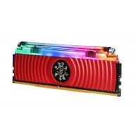 DIMM DDR4 16GB 4133MHz CL16 (KIT 2x8GB) ADATA SPECTRIX D80 RGB, Hybrid Cooling, Dual Box, Red