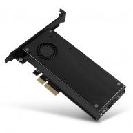 AXAGON PCEM2-DC, PCIe x4 - M.2 NVMe M-key + SATA B-key slot adaptér, chladič, LP