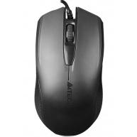 A4tech OP-760 Black, myš, 1 kolečko, 3 tlačítka, USB, černá