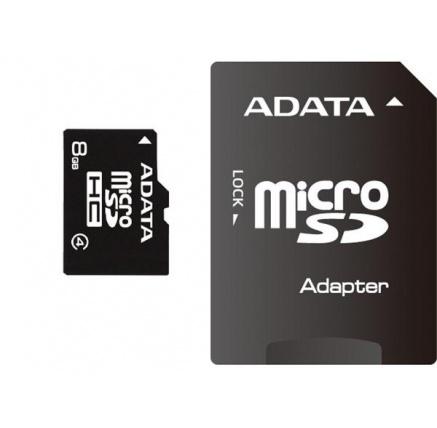ADATA MicroSDHC karta 8GB Class 4 + SD adaptér