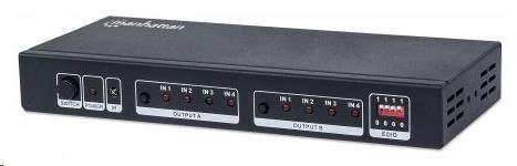 MANHATTAN HDMI rozbočovač 4 porty (splitter, v1.3b)