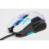 MANHATTAN Herní myš, LED, USB, 2400 DPI, bílá