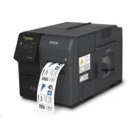 Epson ColorWorks C7500, cutter, disp., USB, Ethernet, black
