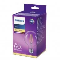 PHILIPS LED žárovka Globe G93 230V 7W E27 noDIM Čirá 806lm 2700K Sklo A++ 15000h (Krabička se závěsem 1ks)