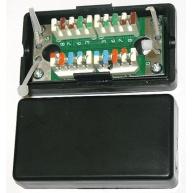 Spojovací box UTP Cat5E narážecí, černá
