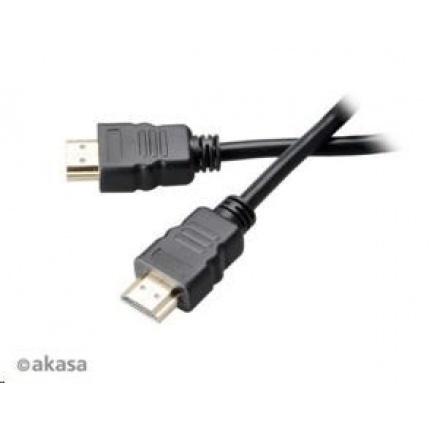 AKASA kabel  HDMI, podpora Ethernet, 2K a 4K rozlišení, pozlacené konektory, 15m