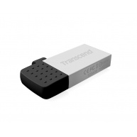 TRANSCEND Flash Disk 8GB JetFlash®380S, USB 2.0/micro USB (R:20/W:5 MB/s) stříbrná