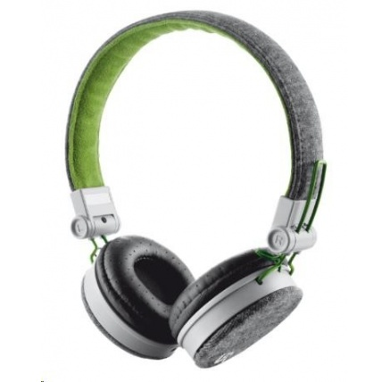 TRUST Sluchátka Fyber Headphone - grey/green