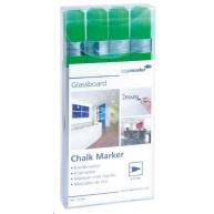 Legamaster Popisovač na skleněné tabule, zelený, sada 4 kusů