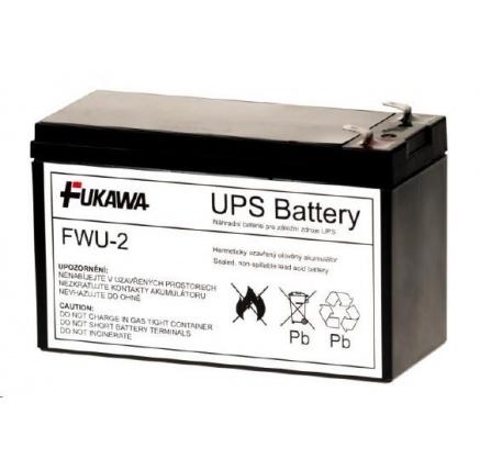 Baterie - FUKAWA FWU-2 náhradní baterie za RBC2 (12V/7,2Ah, Faston 250), životnost 3-5let