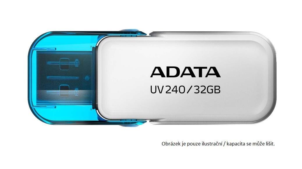 ADATA Flash Disk 8GB USB 2.0 Dash Drive UV240, White