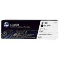 HP 312X 2-pack High Yield Black LJ Toner Cart, 2 x 4400 str, CF380XD
