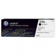 HP 312X 2-pack High Yield Black LJ Toner Cart, 2 x 4400 str, CF380XD