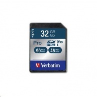 VERBATIM SDHC karta 32GB Pro, U3, V30