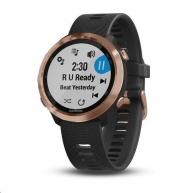 Garmin GPS sportovní hodinky Forerunner 645 Music, Rose Gold, Black band