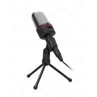 """C-TECH stolní mikrofon  MIC-02, 3,5"""" stereo jack, 2.5m"""