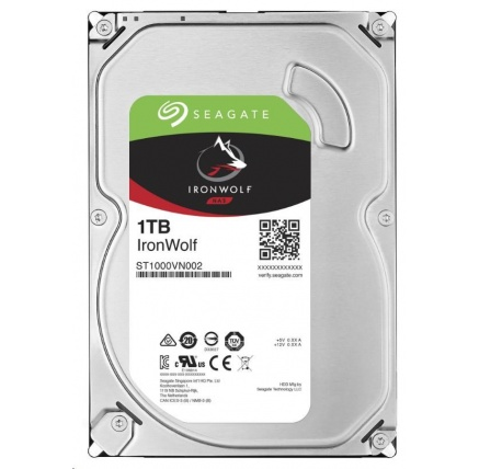 SEAGATE HDD IRONWOLF (NAS) 1TB SATAIII/600, 5900rpm, 64MB cache