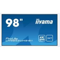 Iiyama monitor ProLite LH9852UHS-B1, 247.7 cm (98''), 4K, HDMI, USB, RS232, black