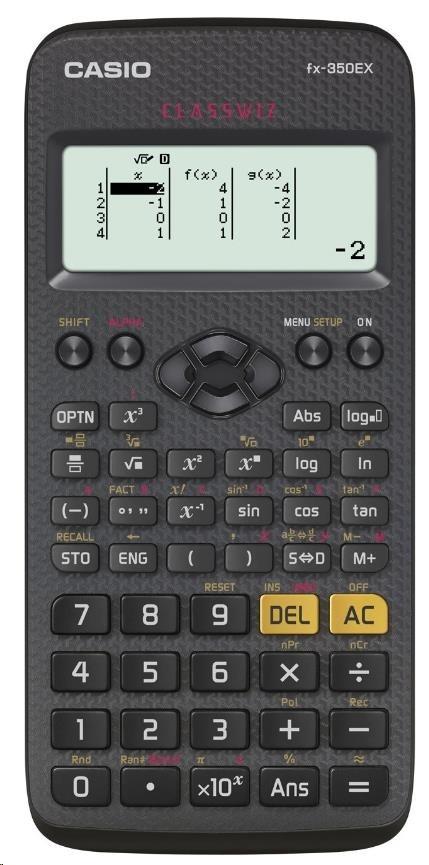 CASIO kalkulačka FX 350 EX, černá, školní/vědecká