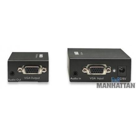 MANHATTAN VGA Cat5 Extender (sada vysílací + přijímací modul UTP, audio)