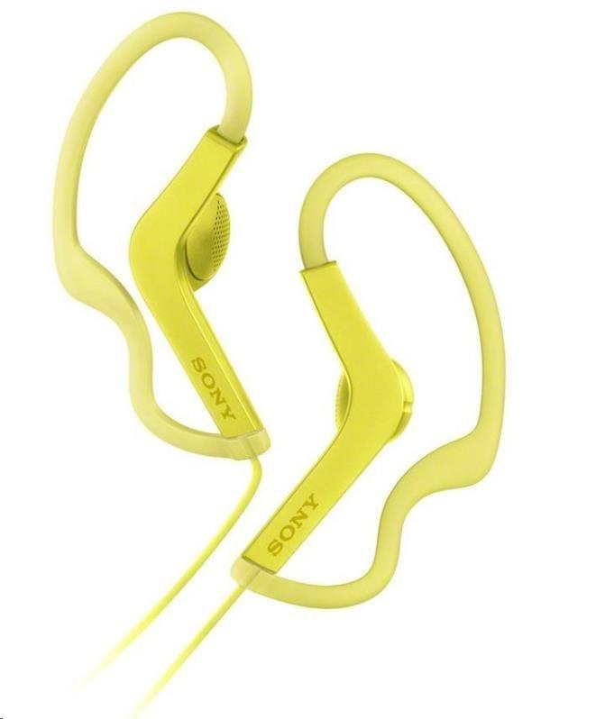 SONY sportovní stereo sluchátka MDRAS210, žlutá