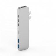 HyperDrive PRO USB-C Hub pro MacBook Pro - Stříbrný