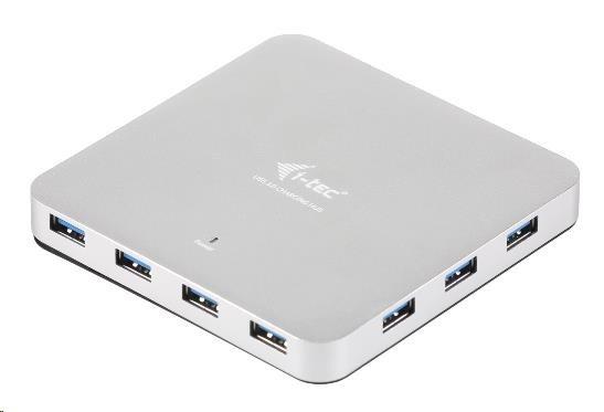 iTec USB 3.0 Hub 10-Port Metal s napájecím adaptérem