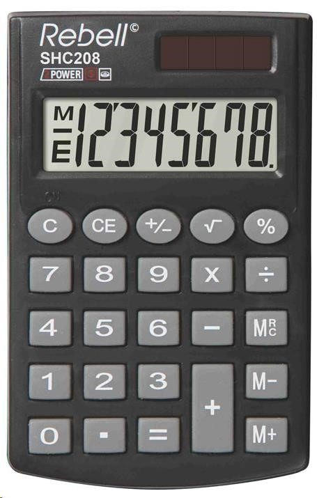 REBELL kalkulačka - SHC208 - černá