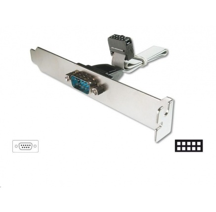 PREMIUMCORD Záslepka 1x sériový port (bracket Canon 9M, RS232, COM)