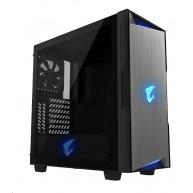GIGABYTE skříň case GB-AC300G, RGB Lighting, bez zdroje, transparentní bok, Mid tower