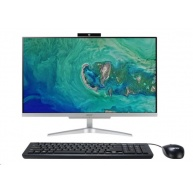"ACER PC AiO Aspire C24-865 - i3-8130U@2.2GHz, 23,8"" FHD,4GB,256SSD,ext.DVD,Intel HD 620,USB3.0,kl+mys,W10H,stříbrný"