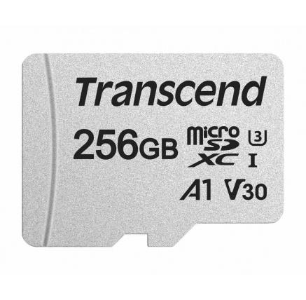 TRANSCEND Micro SDXC 300S 256GB UHS-I U3 V30, s adaptérem