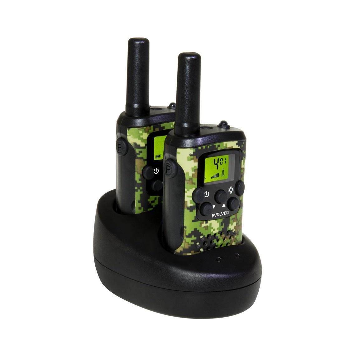 EVOLVEO FreeTalk XM2, sada 2 vysílaček s duální nabíjecí základnou